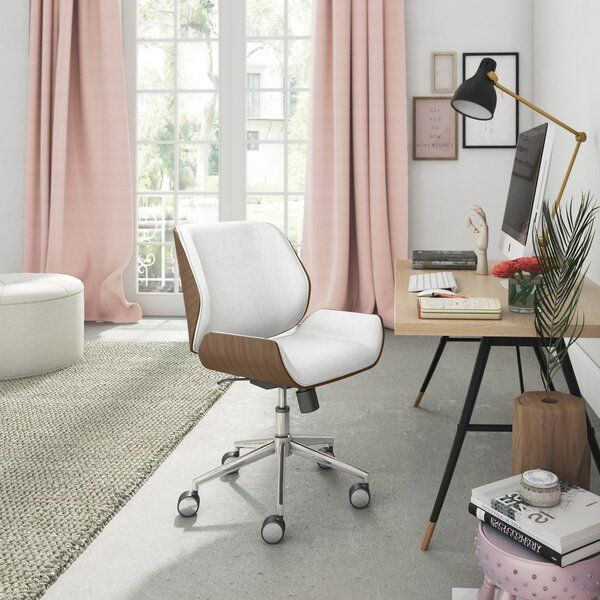 Ophelia Task Chair in 2020 | Home office chairs, Chic office chair .