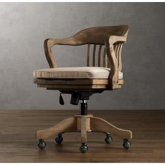 Wooden Swivel Office Chair - Ideas on Fot