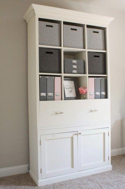 DIY Office Storage Cabinet Bookcase | Office storage furniture .
