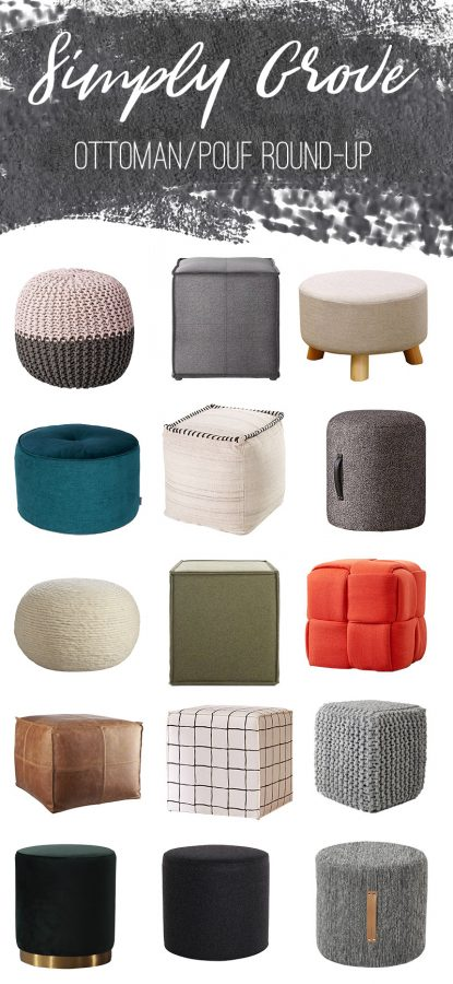 Ottoman/Pouf Round-Up - Simply Gro