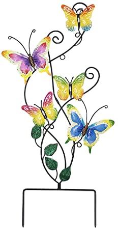 Amazon.com: Juegoal 28 Inch Butterfly Garden Stake Decor Metal .
