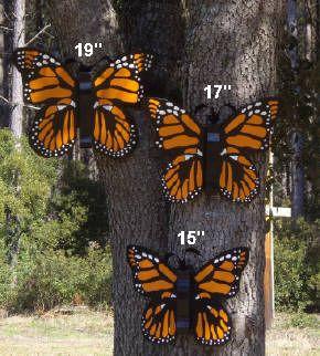 Large Outdoor Butterflies | Large Handmade Wood Outdoor Butterfly .