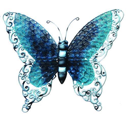 """Enchanted Garden™ 16.3"""" Metal Butterfly Outdoor Wall Art ."""