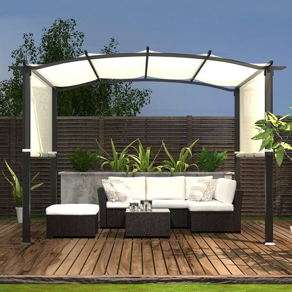Shop 10'x8' Pergola Gazebo Canopy Outdoor Patio Garden Steel Frame .