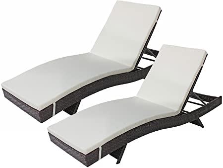 Amazon.com: Divano Roma Furniture 2-Pack All-Weather Modern Patio .