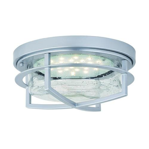 Patriot Lighting® Uptown Painted Satin Nickel LED Outdoor Flush .