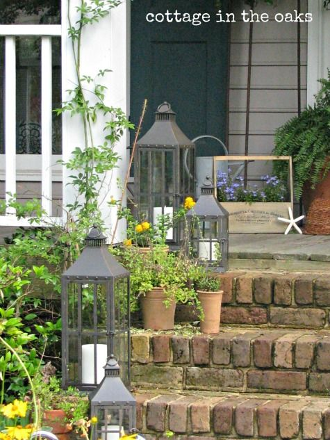 Outdoor Decorating Ideas: Lanterns | Front porch decorating, House .