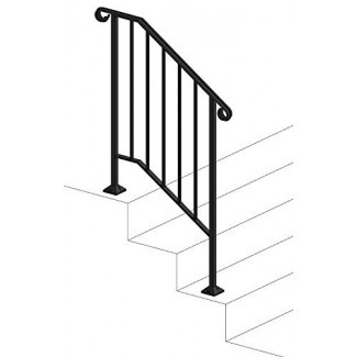 50+ Outdoor Metal Stair Railing Kits You'll Love in 2020 - Visual Hu