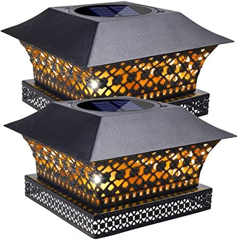 Amazon.com: Siedinlar Solar Post Lights Outdoor Fence Deck Cap .