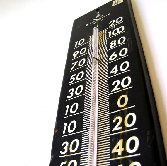 large vintage outdoor thermometer | Outdoor thermometer .