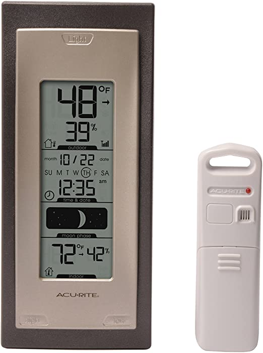 Amazon.com: AcuRite 00592A4 Wireless Indoor/Outdoor Thermometer .