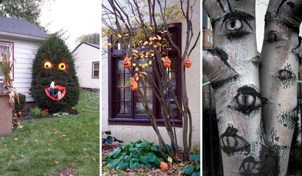 Top 21 Creepy Ideas to Decorate Outdoor Trees for Halloween .