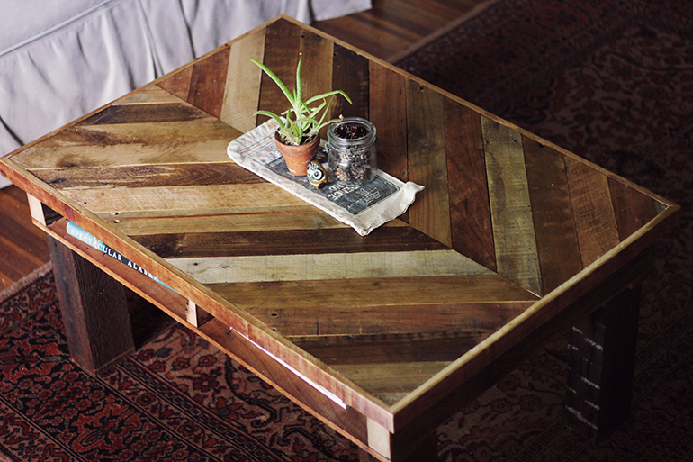 DIY Pallet Coffee Table - The Merrythoug