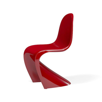 Vitra Panton Chair Classic, Red by Verner Panton, 1958 - Designer .