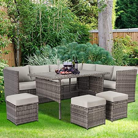 Amazon.com: U-MAX Patio Furniture Sets 7 Pieces Outdoor .