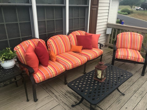 CUSTOM Outdoor Patio Furniture Replacement Cushion Covers with | Et