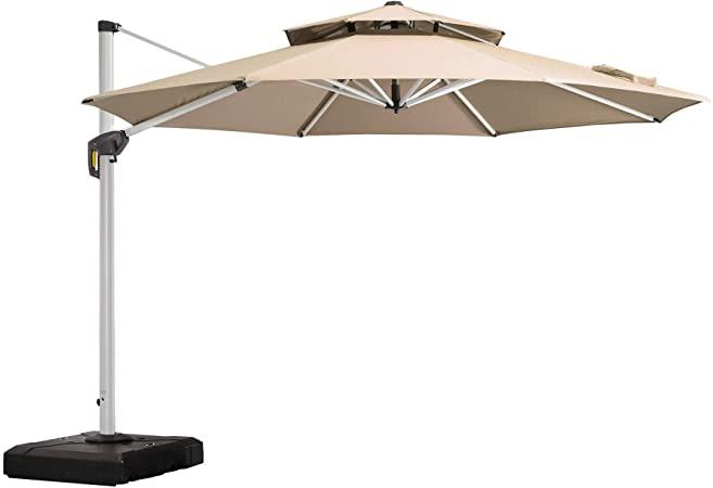 Amazon.com : Purple Leaf 11 Feet Double Top Round Deluxe Patio .