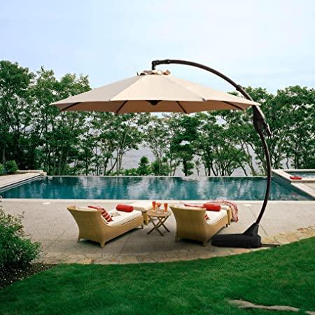 Amazon.com : Grand patio Outdoor 11 FT Offset Umbrella with Base .