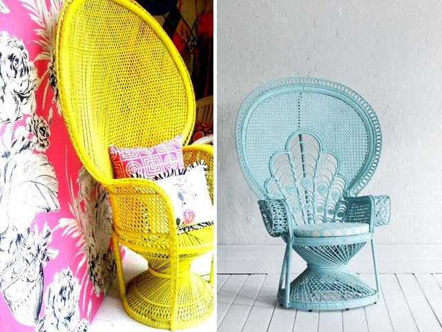 DIY Home: Painted Peacock Chair | A Pair & A Spare | Home diy .