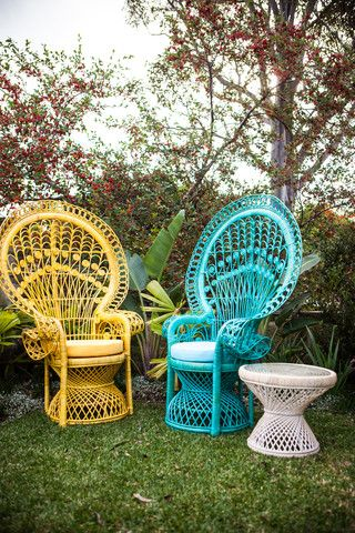 Pin by Celeste Vorster on Summer Love | Painted wicker, Peacock .