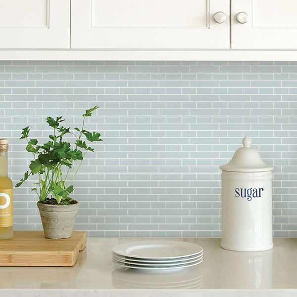 NH2361 - Sea Glass Peel and Stick Backsplash Tiles - by In Home .