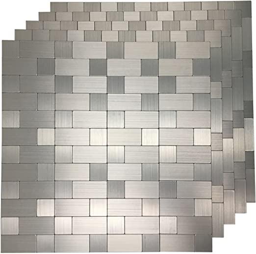 Amazon.com: Art3d 5-Piece Metal Backsplash Tile Peel and Stick .