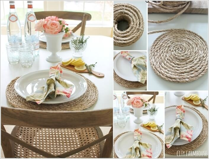 10 Wonderful DIY Placemat Ideas for Your Dining Tab