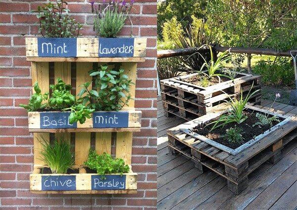 Cleverly Designed Wooden Pallet Planter Ideas - Unique Balcony .