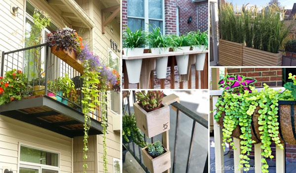 19 Railing Planter Ideas For Making Small Balcony Garde