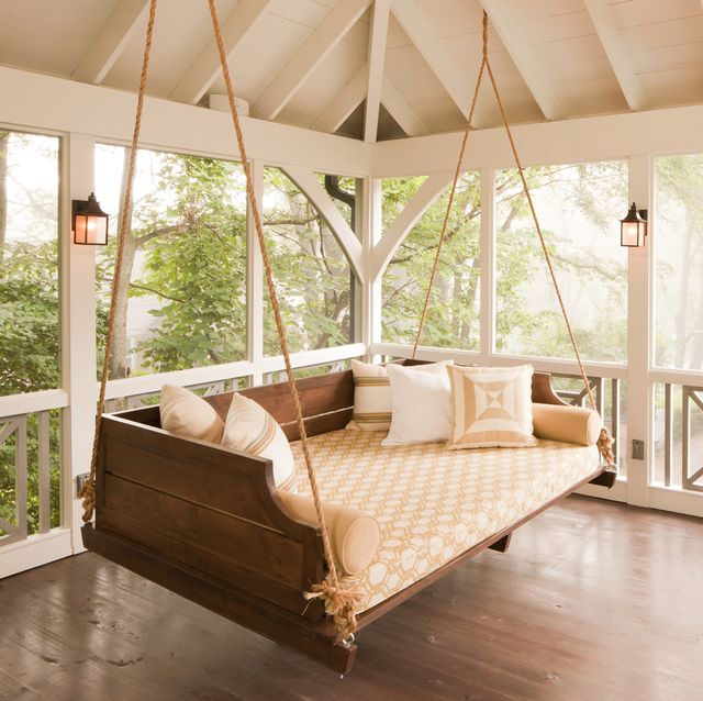16 Porch Swing Plans - DIY Porch Swi