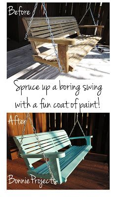 BonnieProjects: Painted porch swing | Porch swing, Porch swing .