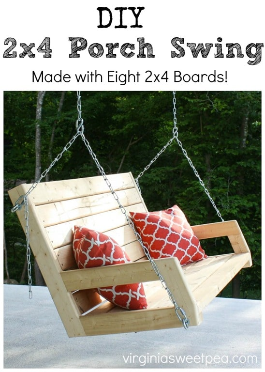 DIY 2x4 Porch Swing - Sweet P