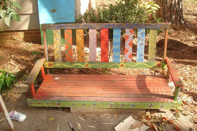 Painted porch swing | Woodworking shop layout, Porch swing, Diy .