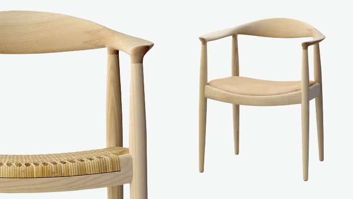 Contemporary chair - PP501/PP503 - PP MØBLER - with armrests .