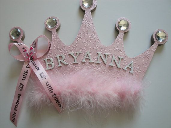 Princess Crown Wall Decor Name by BearySpecialScrappin on Etsy .