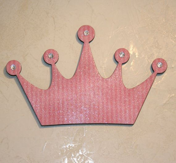 Pink Princess Princess crown wall decor Pink wall decor | Etsy .