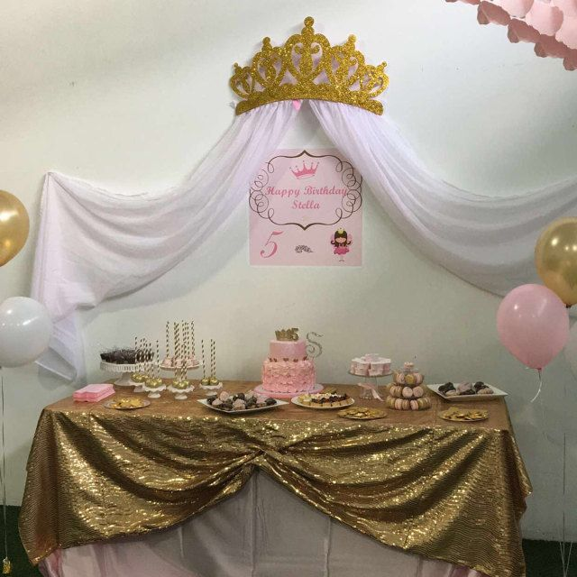 Glittery Gold Princess Crown Canopy Decor By: Wake Up Sweet Pea .