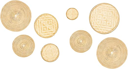Amazon.com: Bamboo Wall Art – Set of 8 Decorative Sculptures for .