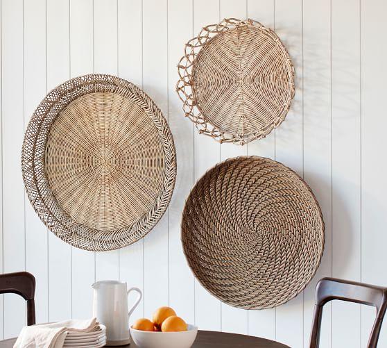 Jasper Natural Rattan Basket Wall Art | Wall Decor | Pottery Ba