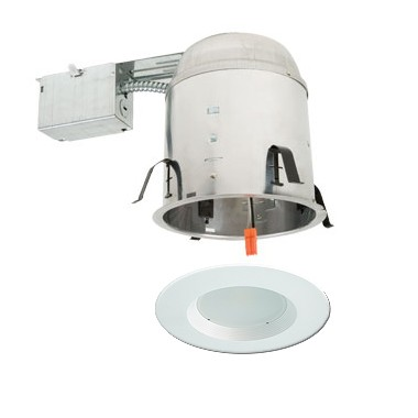 "5"" LED recessed remodel lighting kit remodel IC AT housing white ."