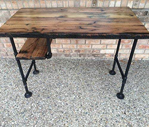 Amazon.com: Reclaimed Wood Desk Table - Rustic Solid Oak W/ 28 .