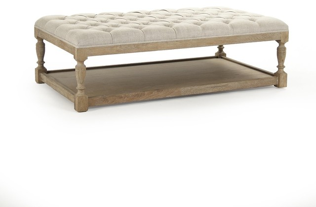 Rectangular Tufted Ottoman - Traditional - Footstools And Ottomans .