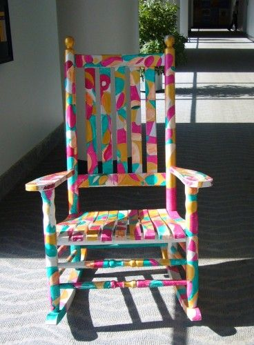 rocking chairs | Painted rocking chairs, Colorful rocking chair .