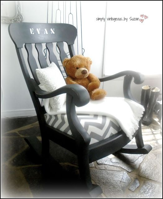 simply vintageous...by Suzan: A ROCKING CHAIR MAKEOVER! | Vintage .