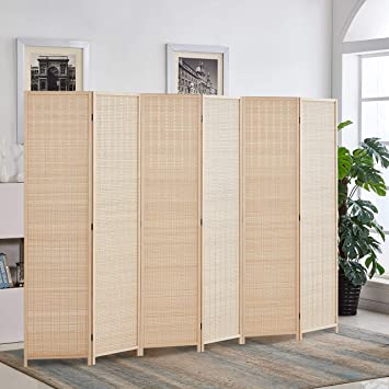 Amazon.com: RHF 6 ft.Tall Bamboo Room Dividers, 6 Panel Room .