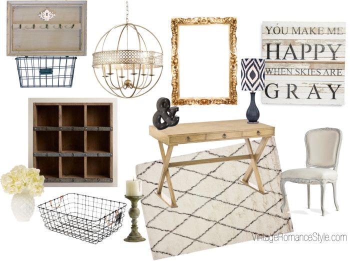 Rustic Glam closet office inspiration | Rustic glam decor, Home .