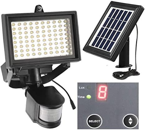 Amazon.com: Solar Security Light 80Leds Outdoor Solar Motion .