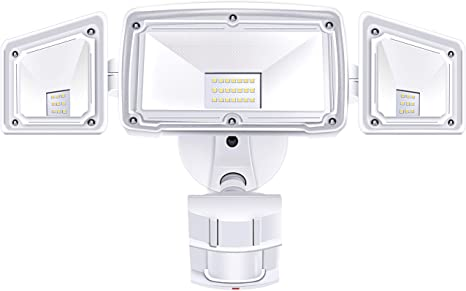 Amazon.com: 3 Head LED Security Lights Motion Outdoor Motion .