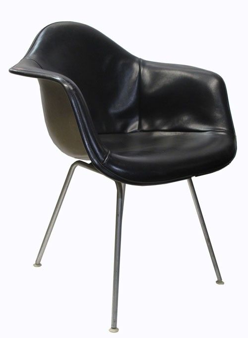 Black Leather Eames Shell Chair - Lost and Fou