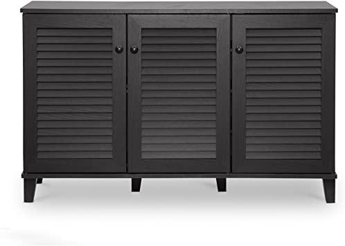 Amazon.com: Baxton Studio Warren Shoe-Storage Cabinet, Espresso .